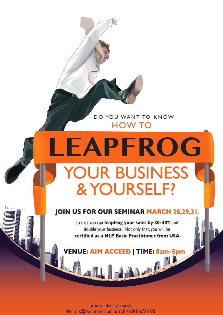 our poster for our Leapfrog event !  credits to Patricia Apolo for the creative work.