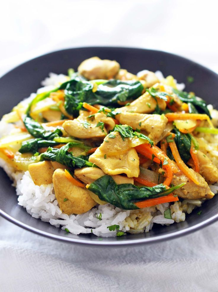 Quick Chicken Curry Recipe. A delicious coconut-milk based chicken curry that is rich and creamy, full of flavor and ready in just 30 minutes!
