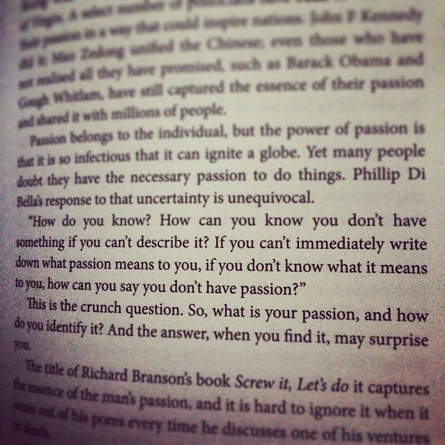 What's your #passion ? #dibella #entrepreneurial #intelligence