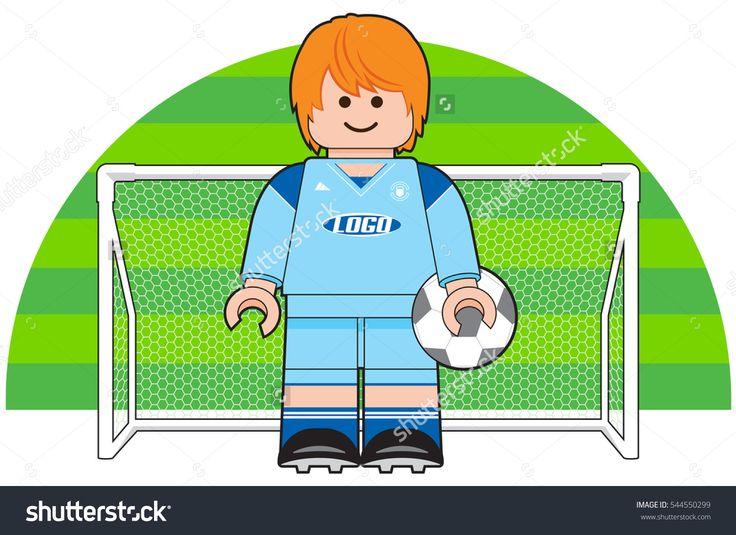 Football Soccer Player Goalkeeper Vector Illustration