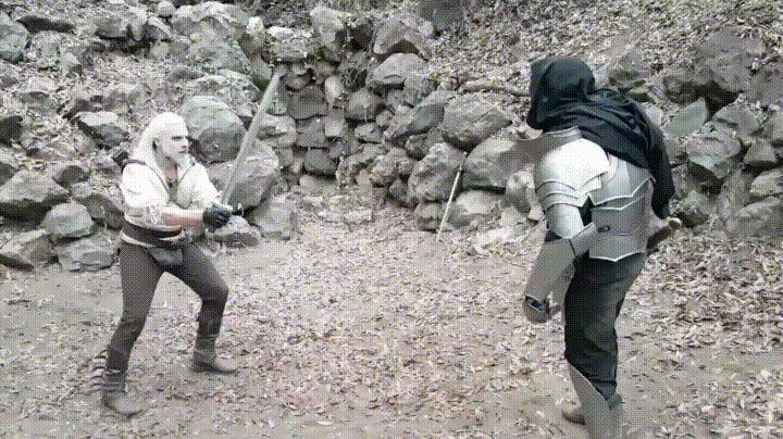 What ingame fights look like before you figured out the controls - GIF on Imgur