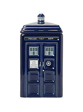 What 39 s in the box a ceramic cookie jar from doctor who with impeccable tardis detailing rubber - Tardis ceramic cookie jar ...