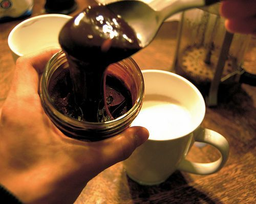 Homemade mocha syrup. Sounds simple and amazing.