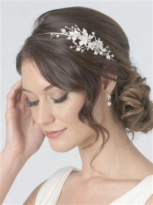 Side Floral Pearl Headband