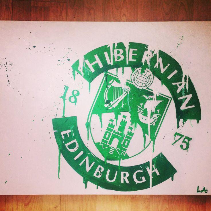 Hibernian FC meets Modern Art!! Another fabulous piece from Lee Allen #football #art