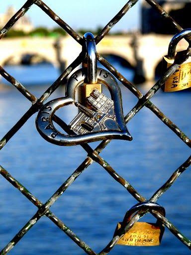 love lock on Paris bridge ~ Pont des Arts, Paris, France.  Amazing Paris  http://www.travelandtransitions.com/our-travel-blog/paris-2012/