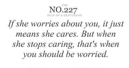 When a woman stops caring