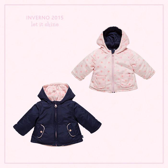 Para os dias mais friozinhos, nada melhor que ter peças quentinhas e cheias de charme para as nossas mini-fashionistas.  Azul ou Rosa?