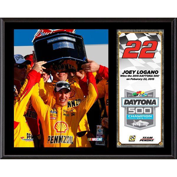"Joey Logano Fanatics Authentic 12"" x 15"" 2015 Daytona 500 Champion Sublimated Plaque - $39.99"