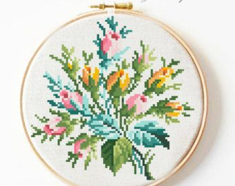 Roses and lilies 1. Reconstructed according to old by stitchclass