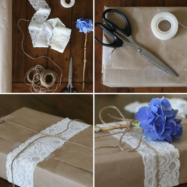 Lovingly, Kate: GIFT WRAPPED // LACE & FLOWERS