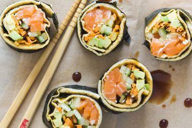 No-rice sushi rolls