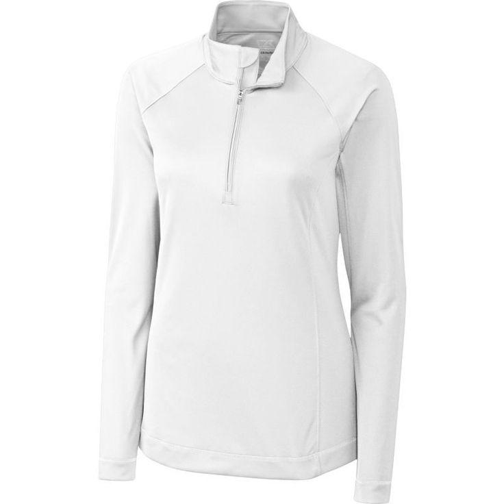 Cutter & Buck Women's DryTec Long Sleeve Evolve Half-Zip Golf Jacket, Size: Medium, White