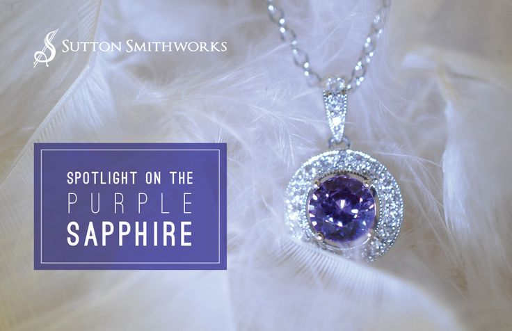 Spotlight on the purple sapphire! Makes a great gift for an #anniversary. Find more beautiful #jewelry like these at #SuttonSmithworks #Winnipeg