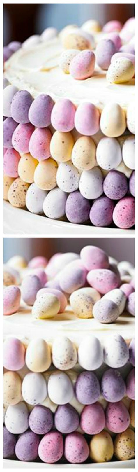 Martha's Mini Egg Cake Recipe ~ Watch Martha Collison from The Great British Bake Off make this beautiful mini egg cake with white chocolate buttercream... Video recipe included