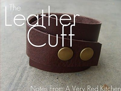Easy Leather Cuff Tutorial    With step-by-step instructions on how to attach metal snaps    www.the-red-kitchen.com