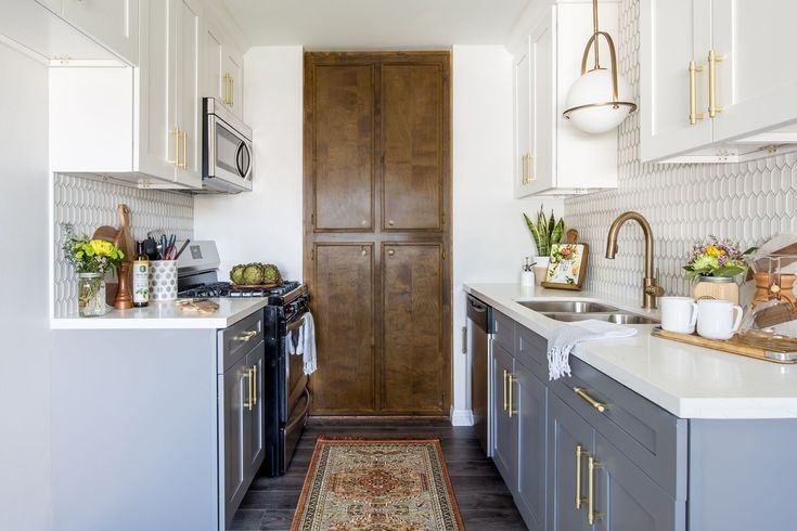 Overall Color Scheme Light Gray Cabinets With Unpainted Wood