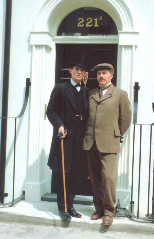 Jeremy Brett and David Burke - Sherlock Holmes and Doctor Watson