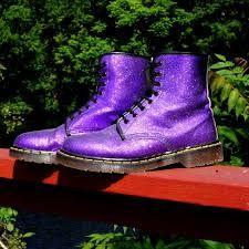 Image result for glitter purple doc martens