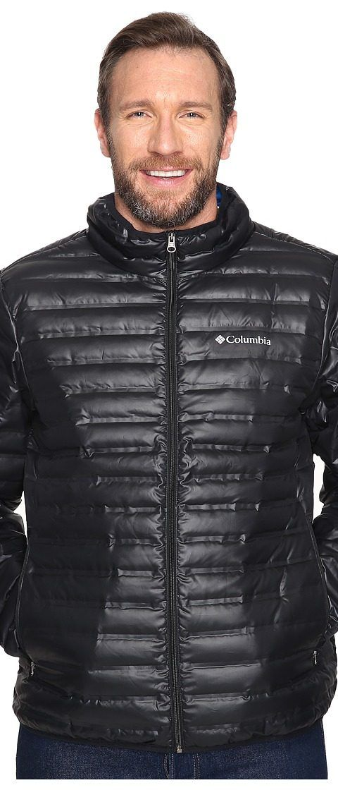 Columbia Big Tall Flash Forward Down Jacket (Black/Hyper Blue) Men's Coat - Columbia, Big Tall Flash Forward Down Jacket, 1640883/1640884-011, Apparel Top Coat, Coat, Top, Apparel, Clothes Clothing, Gift, - Street Fashion And Style Ideas