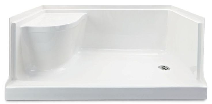 Ellis 60 Acrylic Shower Base with Seat- Right Hand