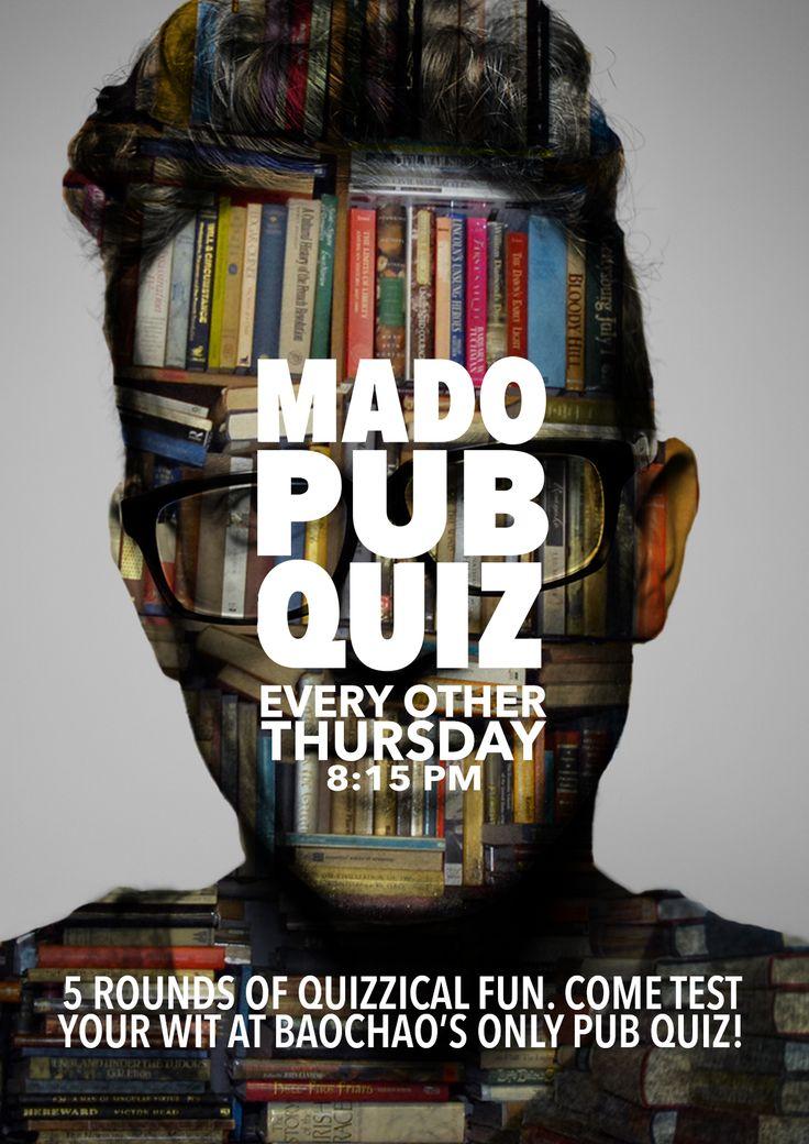 Behance :: Editing Mado Pub Quiz Nights Poster