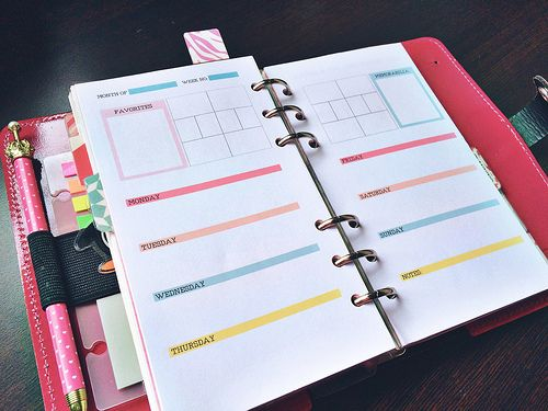 Free Project Life Printable for Filofax: