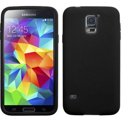 MYBAT Solid Skin Case for Samsung Galaxy S5 - Black