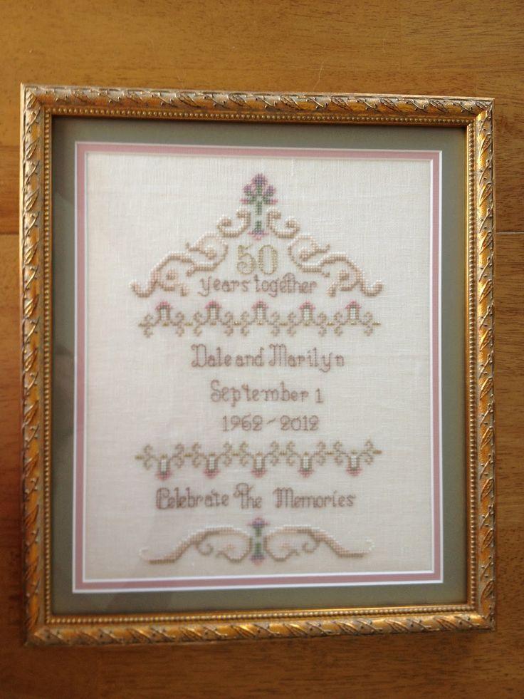 Best anniversary cross stitch images on pinterest