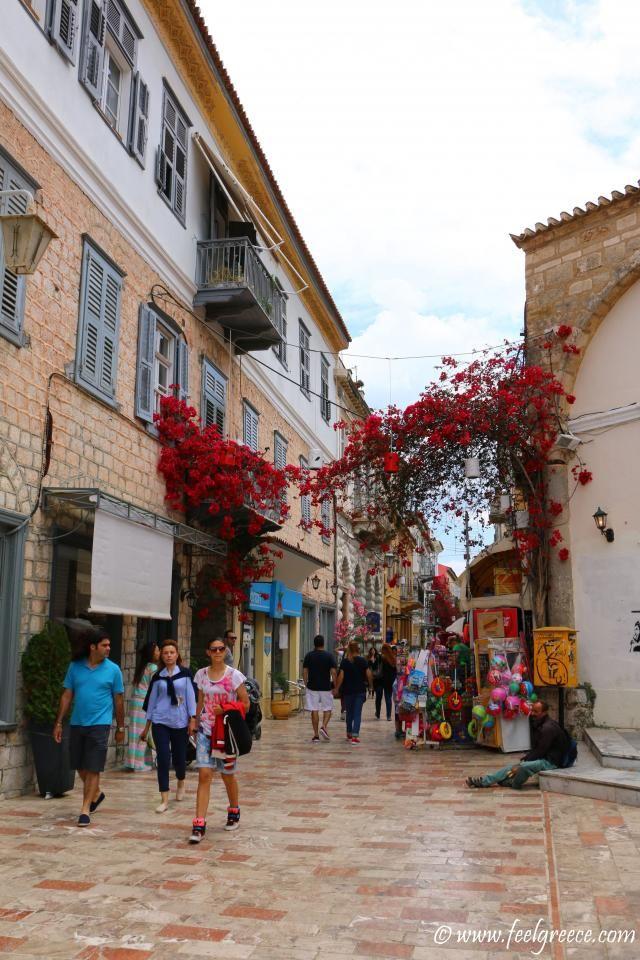 Megalos Dromos street; photo from Nafplio, Argolis Region