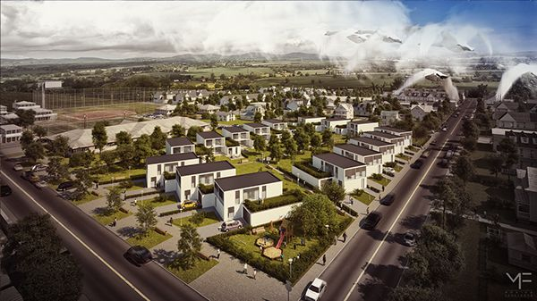 Urban study - Terraced houses - Hungary by Monika Feketeova, via Behance