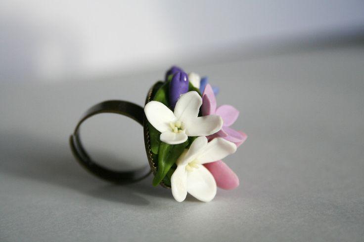 Anelli - Orecchini fiore, Orecchini rosa, ortensie - un prodotto unico di DecorUA su DaWanda