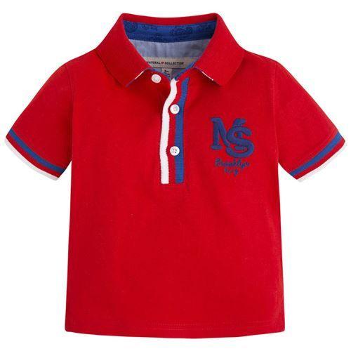 Mayoral Erkek Bebek Yazlık Polo Yaka T-shirt Nar Rengi