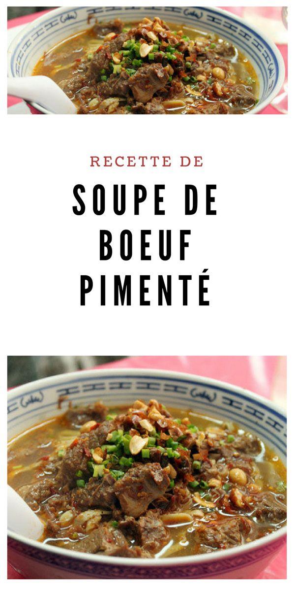 #soupe #boeuf #Piment