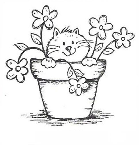 Drawing Cats -- This looks like a pretty simple and straight forward kitty to draw, and I just thought this picture was just so cute.