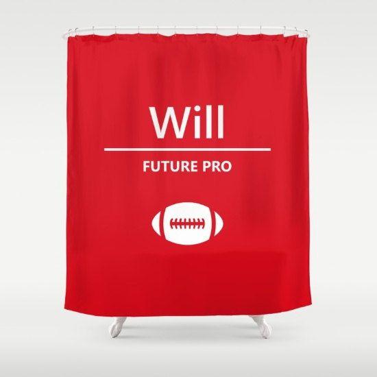 boys shower curtain kids sports bathroom accessories boy gifts custom football decorations