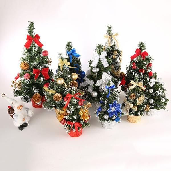 20cm 40cm Mini Christmas Trees Xmas Decor Small Pine Tree On Desktop Christmas F Mini Christmas Tree Christmas Tree Decorations Mini Christmas Tree Decorations