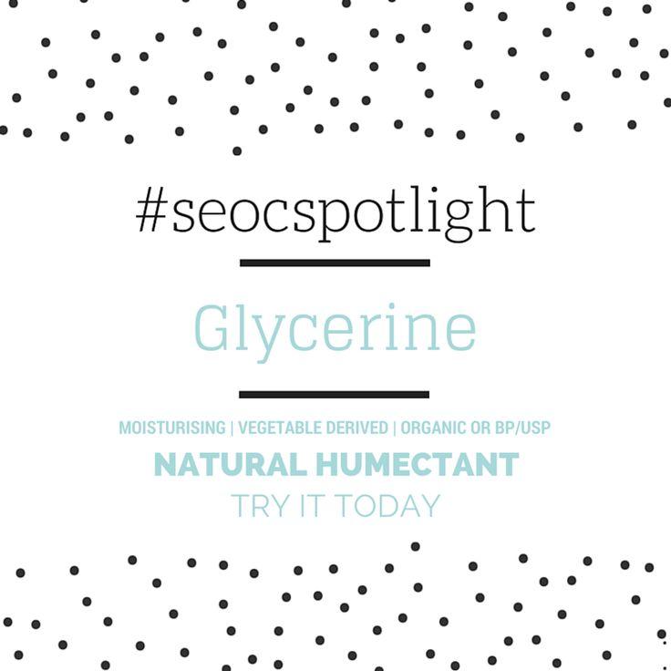 #SEOCSpotlight | Glycerine | Natural Humectant Order online at www.seoc.com.au