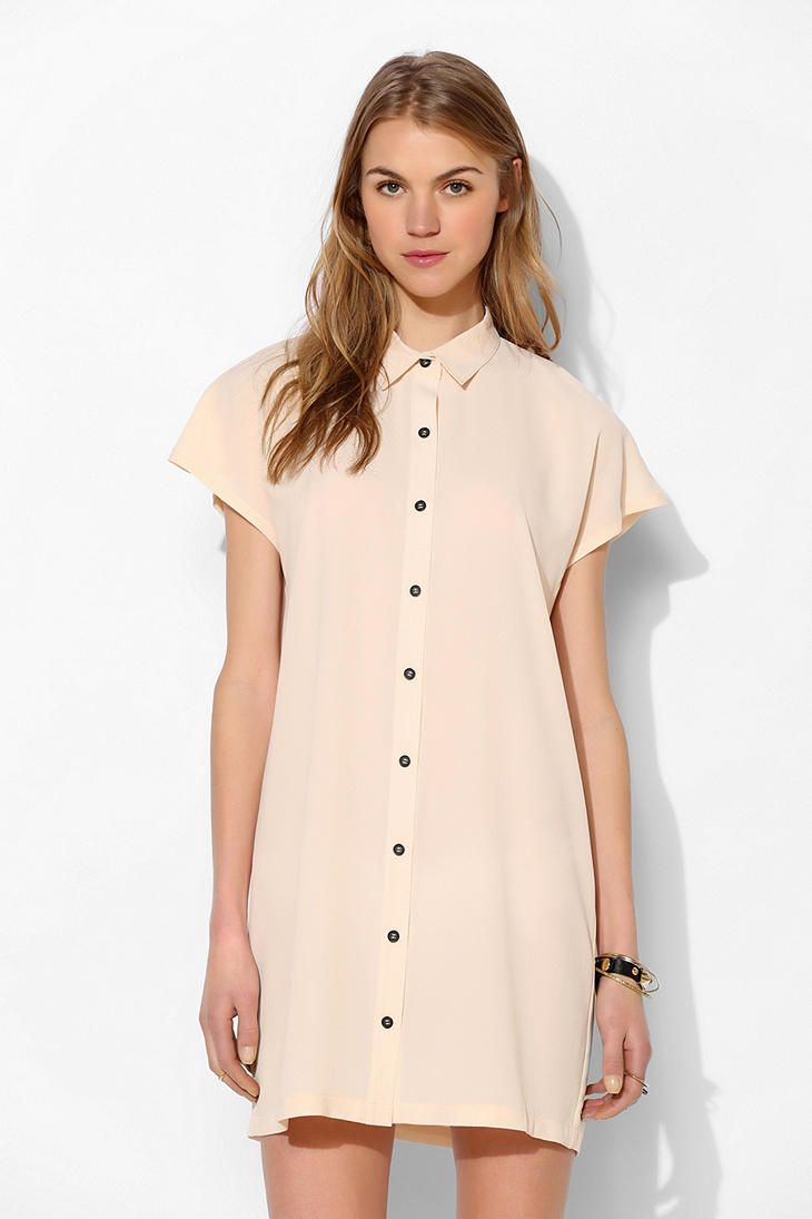 Sparkle & Fade Cutout-Back Shirtdress #UrbanOutfitters