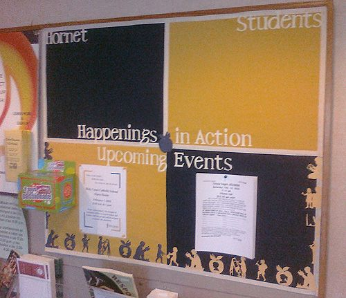 Really sharp! Idea for new PTO bulletin board - I like the block coloring  Also like the idea of having holders at the bottom for MD guides, current flyers, etc....