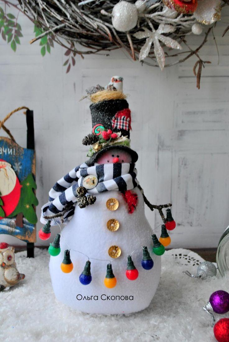Снеговики Ольги Скоповой - 11 Ноября 2016 - Кукла Тильда. Всё о Тильде, выкройки, мастер-классы.