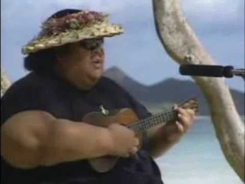 over the rainbow / what a wonderful world - iz, israel kamakawiwo... {he is amazing.}