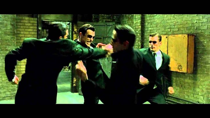 "The Matrix Reloaded - The ""Upgrades"" Fight - The Full Scene"