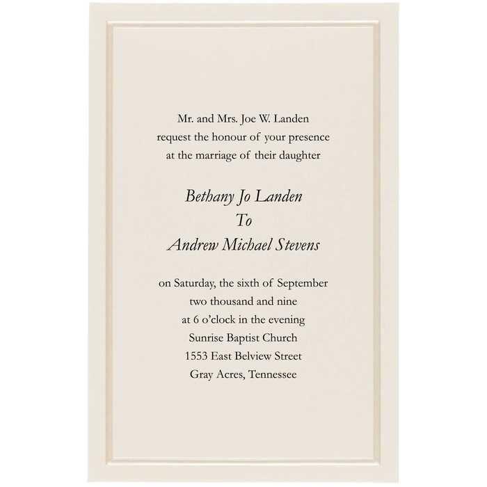 Ivory Pearl Wedding Invitations