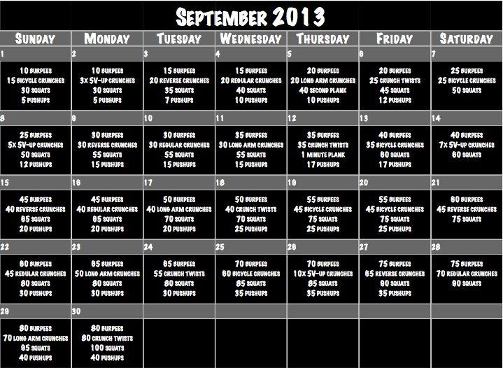 September+Workout+Calendar.jpg 719×526 pixels