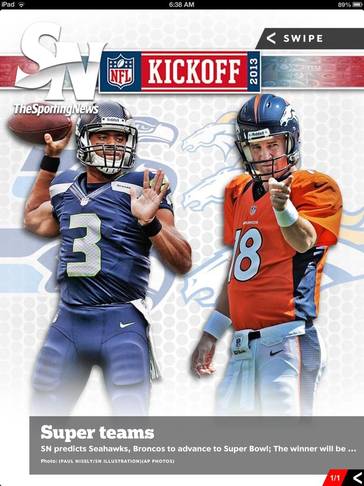 Seattle Seahawks Russell Wilson and Denver Broncos Peyton Manning