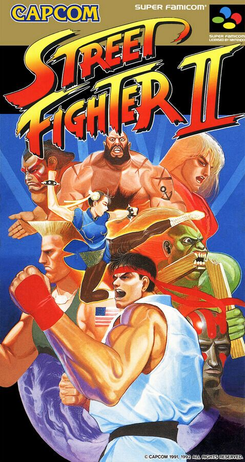 Street Fighter II 2 Old Classic Retro Game Poster Game Poster, New Poster, Print Poster, Art Print, Classic Video Games, Retro Video Games, Retro Games, World Of Warriors, Pc Engine