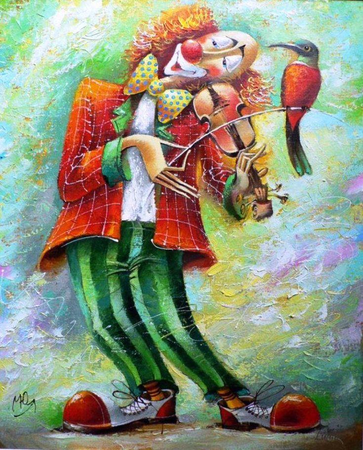 Живописные клоуны художника Юрия Мацика.. Обсуждение на LiveInternet - Российский Сервис Онлайн-Дневников