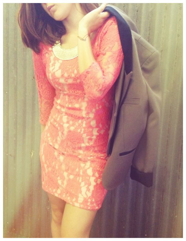 Tight fitting lace dress for winter-amaze