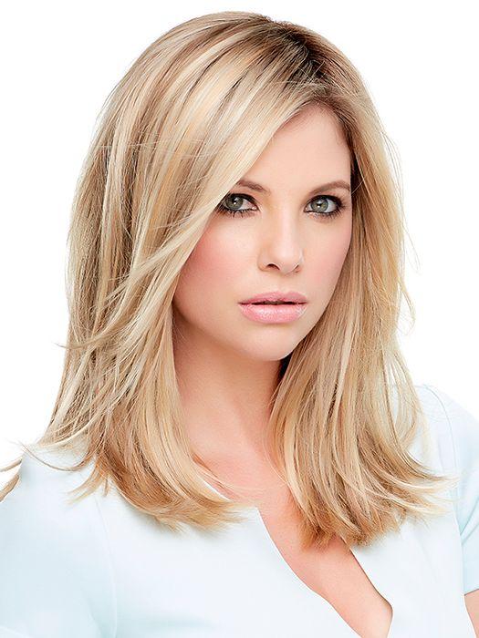 Clips in to your own hair | Color 12FS8 Light Golden Brown, Light Natural Golden Blonde & Pale Natural Golden Blonde Blend w/ Dark Brown Roots